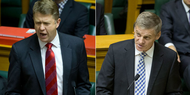 National MPs applaud their Budget, while Labour accused them of stealing its ideas. Photo / Mark Mitchell