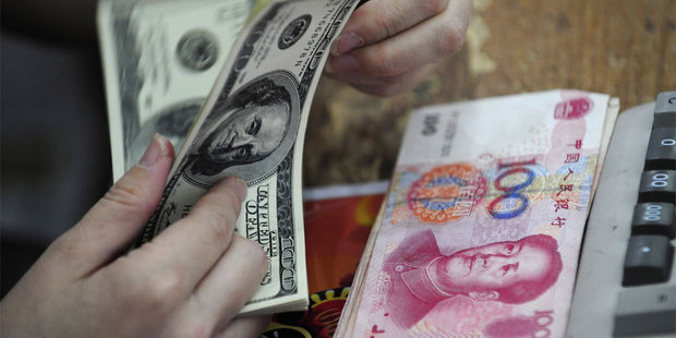 Since falling as much as 3.5 per cent from mid-January to the end of last month, the yuan has rebounded and is headed back toward its record high of 6.0393 per dollar. Photo / AP