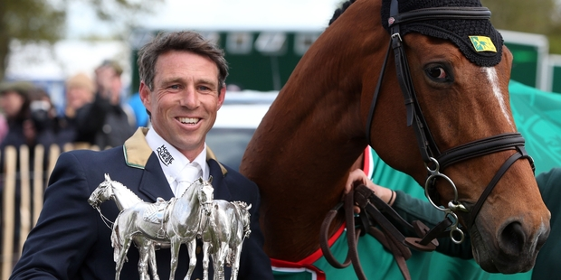 Australia's Sam Griffiths, on Paulank Brockagh, became the sixth Australian to claim eventing's most celebrated title. Photo / AP