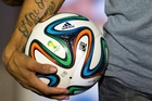 The World Cup Brazuca ball. Photo / AP