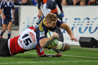 All bar one try in last weekend's clash between the Highlanders and Lions was referred to the TMO. Photo / Getty Images