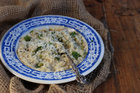 A comforting pea and mint risotto is perfect for autumn. Picture / Eleanor Ozich.