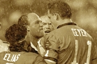 A classic State of Origin moment in Sydney in 1991 when Maroons captain Wally Lewis confronted NSW's Mark Geyer.