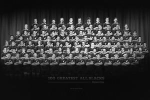 Wynne Gray's 100 Greatest All Blacks. Photo / Graphic by Claudia Ruiz