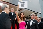 Salma Hayek at Cannes events. Photo / AP