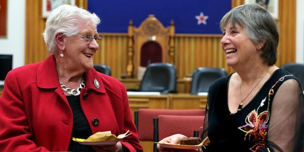 Barbara Craft (left) and Gay Lang were special guests  at the Whangarei District Council's celebration of the 50th anniversary of Whangarei becoming a city. Photo/John Stone