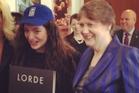 Lorde hobnobs with Helen Clarke.