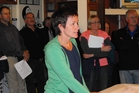 Turakina Ward resident Linda O'Neill voices her concerns.