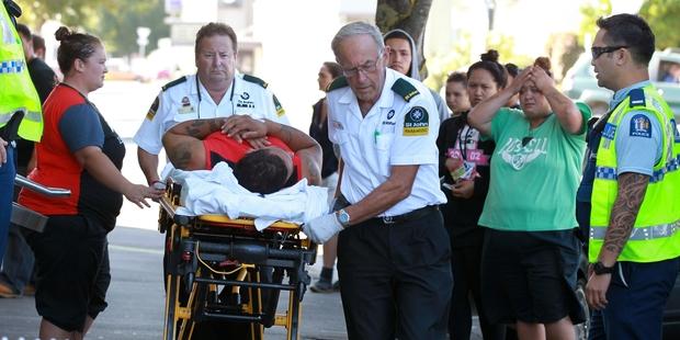 Travis John Rihia is taken to hospital after failing in his escape bid. Photo/File