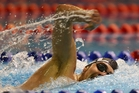 Matthew Stanley wins the 400m freestyle at the Oceania Championships last night.