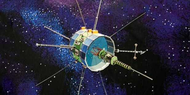 An artist's concept of the International Sun-Earth Explorer, or ISEE-3, built in 1978. Image / AFP