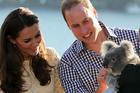 Britain's Prince William and his wife Kate, the Duchess of Cambridge, meet Leuca the Koala at Taronga Zoo. Photo / AP