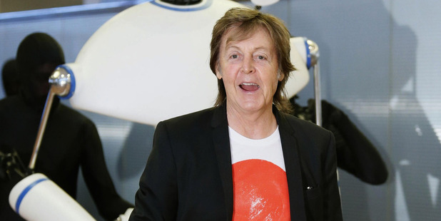 Paul McCartney arrived in Japan last week. Photo/AP.
