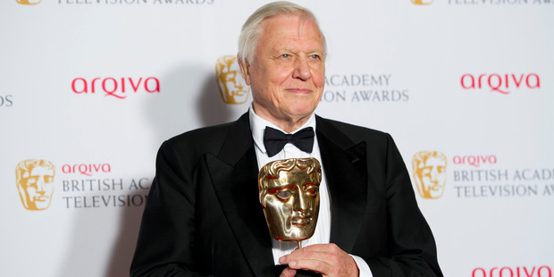British presenter David Attenborough at the Bafta Awards. Photo/AP.