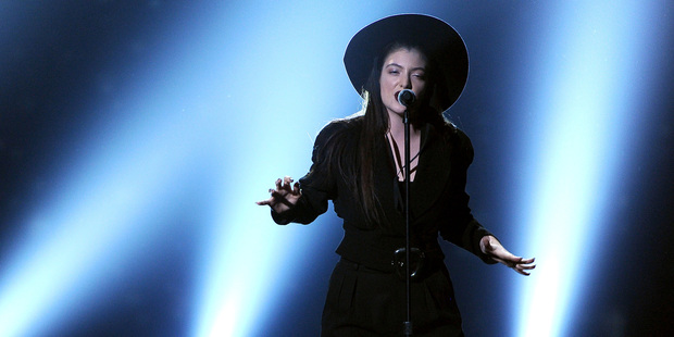 Lorde performs on stage at the Billboard Music Awards. Photo / AP