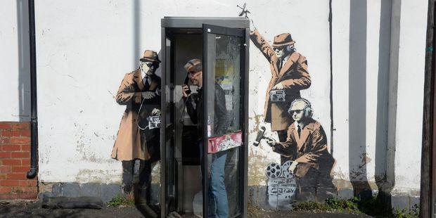 Street artist Banksy may have struck again in Cheltenham, England. Photo / AP.