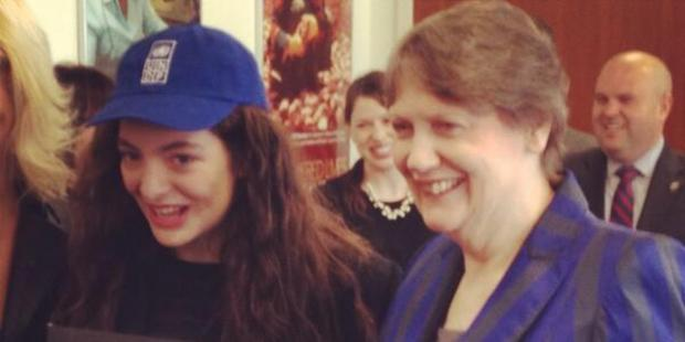 Lorde and Helen Clark. Photo/Twitter.