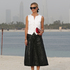 Can Laura Bailey bring back the waistcoat? We're loving her look at the Chanel Cruise 2015 collection showing in Dubai. Picture / Supplied