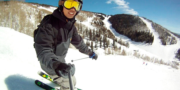 Andrew Louis improved his skiing on a trip to the Steamboat and Telluride skifields in Colorado. Photo / Andrew Louis