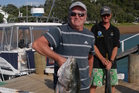 All Black coach Sir Graham Henry with a kingfish in the Bay of Islands - a place he loves spending time in.