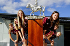 Te Puke High School girls win Bay of Plenty horse dressage competition. From left, front: Lilli Miller, Nicole Thomas, Patrea ter Steege Front right, front: Chloe Priebe, Sammi Moody. PHOTO/GEORGE NOVAK