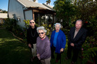 Spring St housing tenants (from left) Ruth Mitten, 88, Barbara Wardle, 94, Lillian Jackson, 82, and Bob Tait, 66. Photo / Dean Purcell