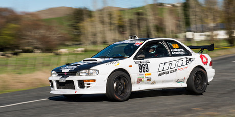 Targa North Island winners Leigh Hopper and Simon Kirkpatrick. Picture / Ted Baghurst