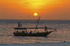 Sunset over Zanzibar's Kendwa Beach.