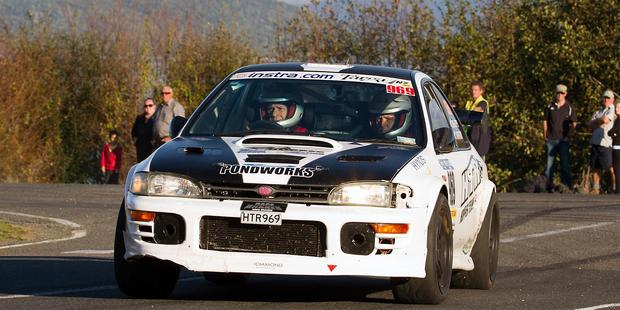 Winners Leigh Hopper and Simon Kirkpatrick in action during the Targa North Island event. Picture / Ben Hughes