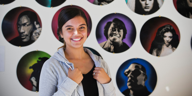 Stevie Davis-Tana, 19, a Youthline volunteer, says young people use the web because it is anonymous. Photo / Greg Bowker