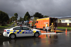 Emergency services in Luanda Rd, Ranui. Photo: Brett Phibbs