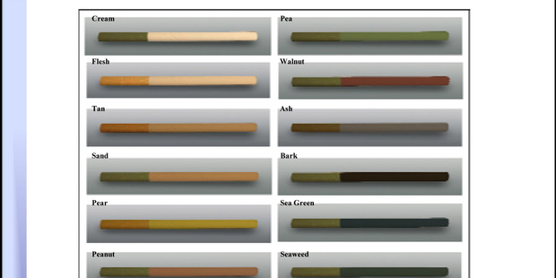 Proposed dissuasive cigarettes use colours to deter people from smoking. Photo / supplied