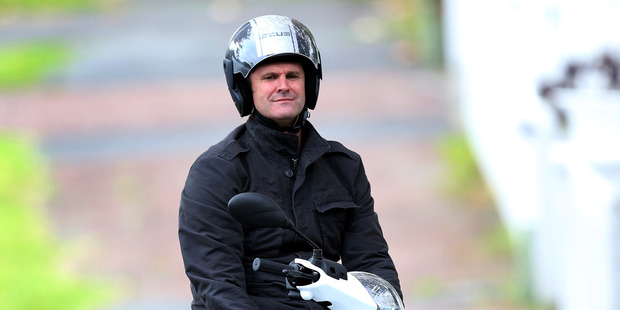 Cricketer Chris Cairns in Herne Bay. Photo / New Zealand Herald / Jason Oxenham