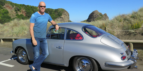 Angus Cooper bought the 1963 Porsche 356 as an early 50th birthday present. Picture / Jacqui Madelin
