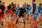 The All Blacks used this weeks squad camp in Christchurch before the upcoming test against England to work on the problem areas of their game - learning the moves to the Macarena. Photo / Getty Images