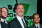 Allen Stanford unveils his US$20 million prize. Photo / AP