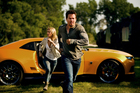 Nicola Peltz, left, and Mark Wahlberg in Transformers: Age of Extinction. Photo / AP