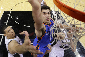 Steven Adams has rankled rivals during his dream debut season. Photo / AP