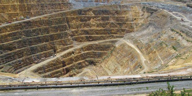 Newmont Waihi Gold. Martha Pit.