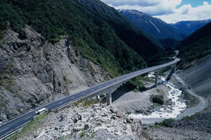 The Otira highway in Arthur's Pass. Photo / John McCombe