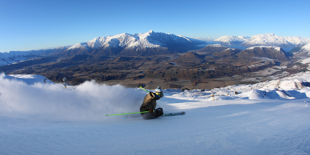 Eighty lights for night skiing and a park-after-dark freestyle run are being added at Coronet Peak this season. Photo / Miles Holden