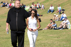 Kim Dotcom and wife Mona. Photo / Richard Robinson