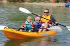 Kayaking is a great way to get outside and enjoy the weekend.