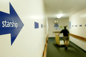 A sign pointing to the Starship Childrens Hospital. Photo / File