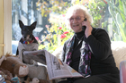 Co-ordinator of The Phone News Hawke's Bay, Beryl Reinders has been nominated for the Pride of New Zealand Awards. She is pictured at home in Clive with her dog, Poppy. Photo/Duncan Brown
