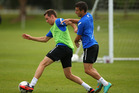 The All Whites' clash with South Africa next week has been further weakened with the withdrawal of attacking pair Shane Smeltz and Kosta Barbarouses. Photo / Getty Images.