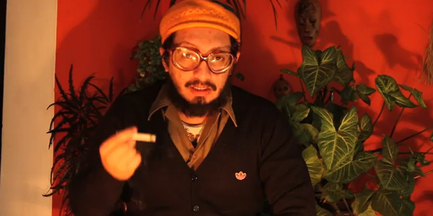 """Artist and activist Francisco Tapia, who is also known as """"Papas Frita"""". Photo / YouTube"""