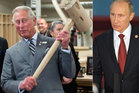 Prince Charles, seen here on his royal tour of Canada, might need a bigger hammer to defend himself from criticism after he compared Vladimir Putin to Hitler. Photo / AP