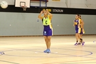 Fideliter 1 centre Hayley Tipene gets play under way in their premier netball game over the weekend. Photo/Emma Miller