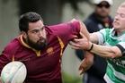 Hora Hora's Rukuwai Waata shrugs off Otamatea halfback Mike Robinson. Photo/John Stone